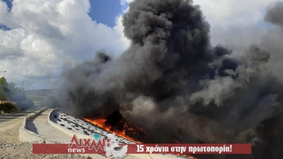 Μεσολόγγι: Πυρκαγιά στην περιοχή Άγιος Συμεών