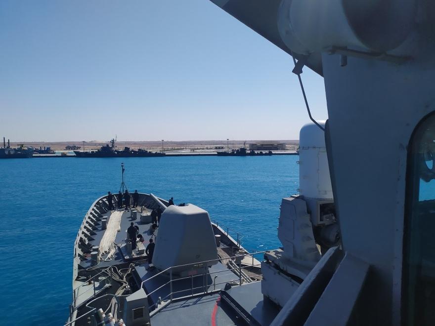 Στη ναυτική βάση Gargoub της Αιγύπτου κατέπλευσε η φρεγάτα «Σαλαμίς»