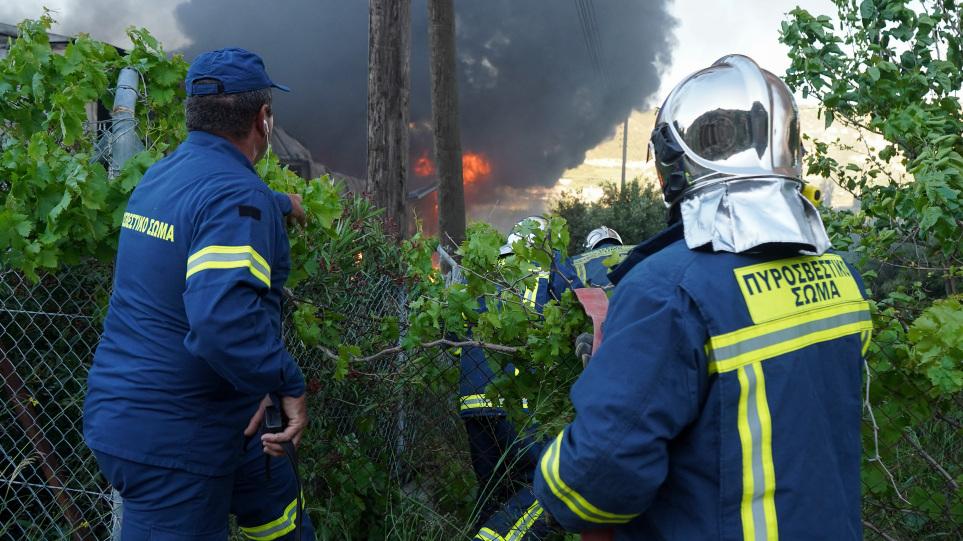 Κρήτη: Σε ύφεση η φωτιά στον Άγιο Θωμά, στον δήμο Γόρτυνας