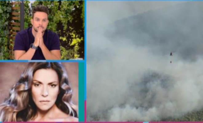 Στιγμές αγωνίας για τη Λίτσα Γιαγκούση στα Βίλια – «Είμαι 300 μέτρα από τη φωτιά»