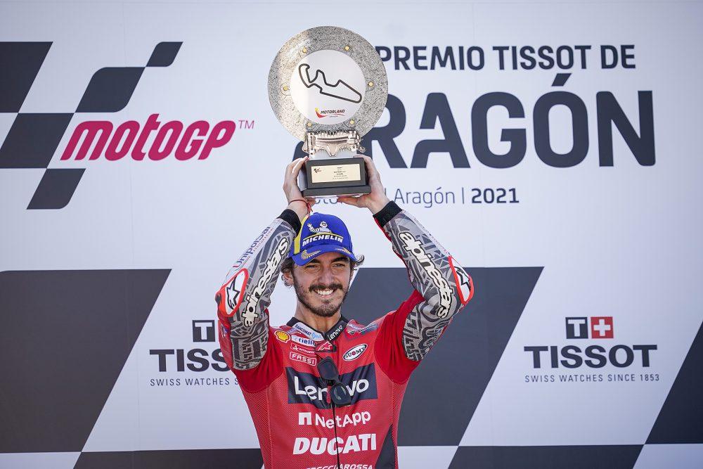 Παρθενική νίκη για τον Pecco Bagnaia στο Grand Prix της Αραγονίας