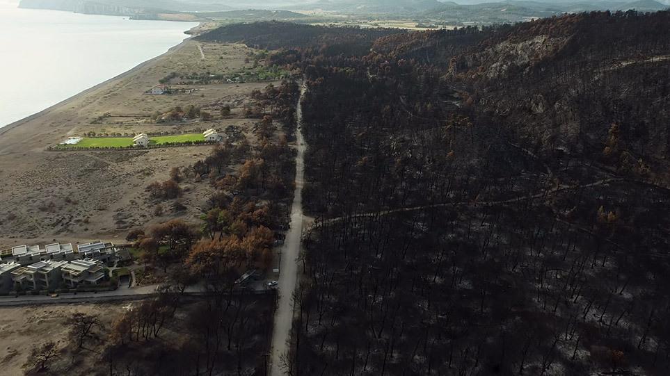 Εύβοια: Συγκλονιστικό βίντεο από drone στην καμένη γη – Συναγερμός για την επερχόμενη κακοκαιρία
