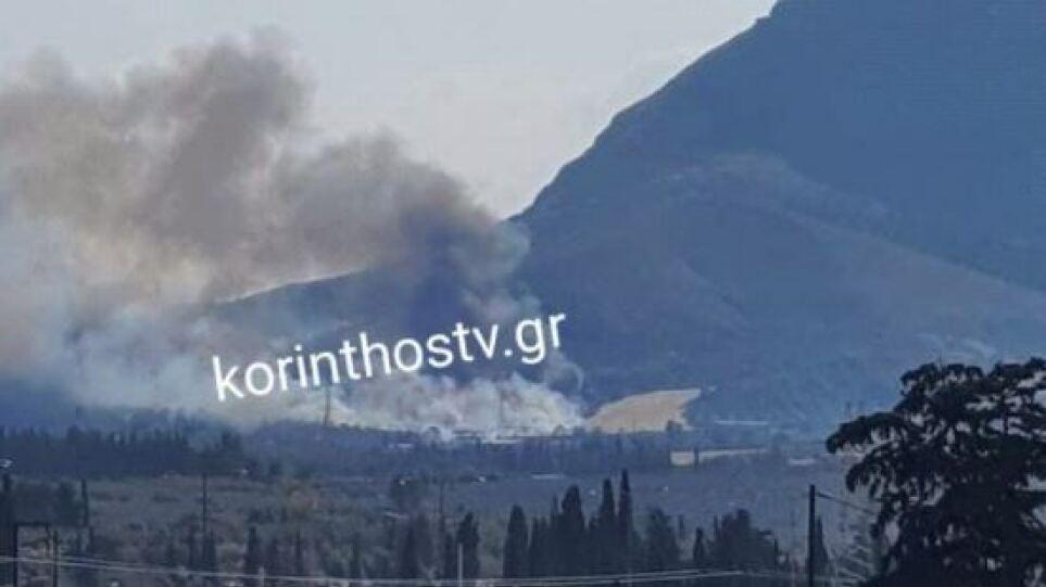 Συναγερμός στην Πυροσβεστική: Φωτιά στην Αρχαία Κόρινθο