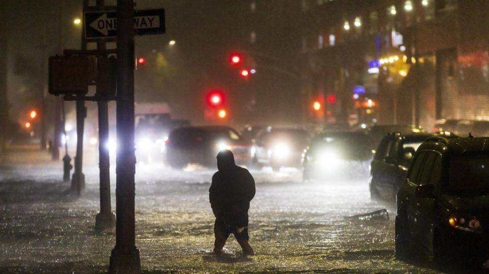 Τυφώνας Άιντα: Τουλάχιστον οκτώ νεκροί σε Νέα Υόρκη και Νιου Τζέρσεϊ από τις πλημμύρες