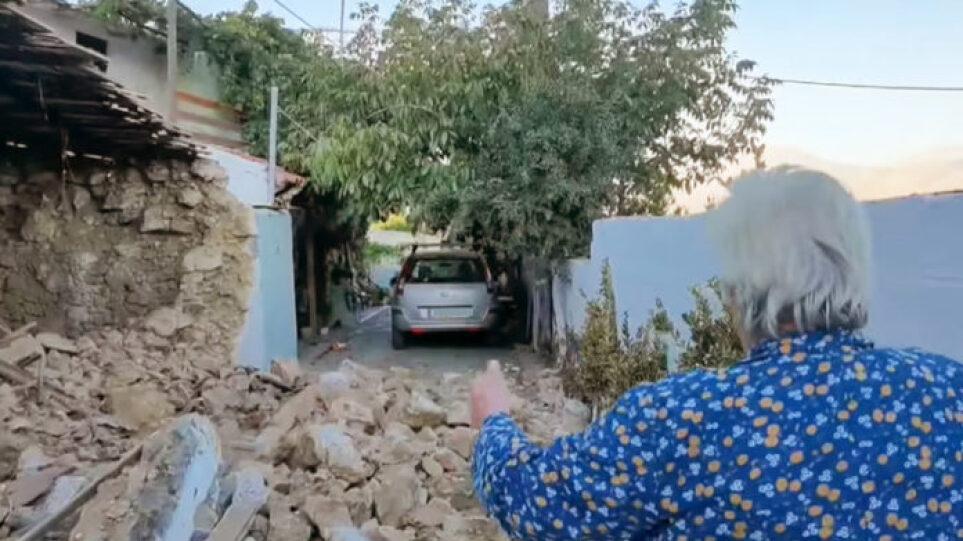 Ηλικιωμένη στο μισογκρεμισμένο σπίτι της στην Κρήτη: Έλα παιδί μου να σου κάνω καφέ