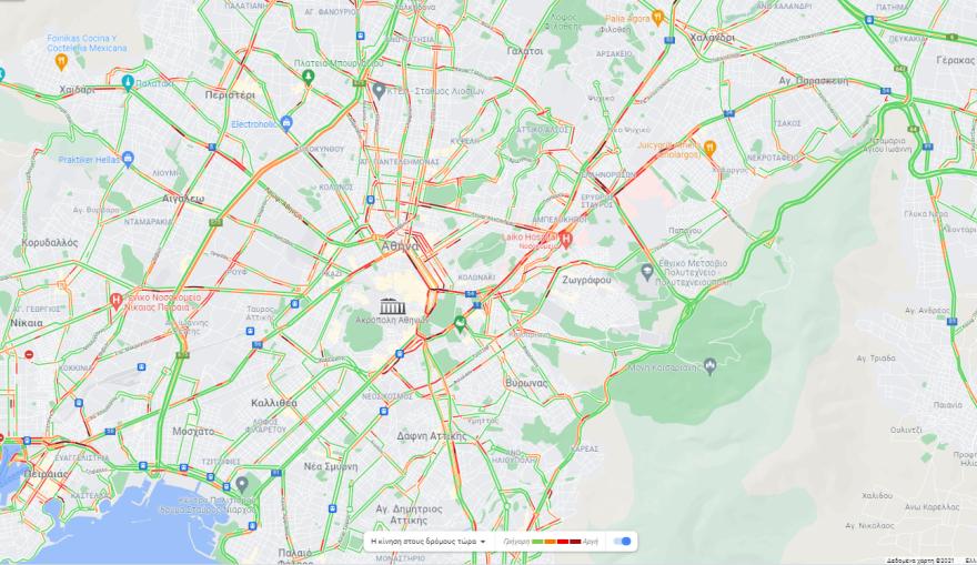 Κίνηση στους δρόμους: Πού έχει μποτιλιάρισμα στο κέντρο της Αθήνας – Live εικόνα