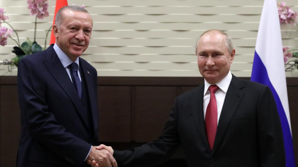 Συρία, Λιβύη, ενεργειακή και αμυντική συνεργασία στο επίκεντρο των συνομιλιών Πούτιν – Ερντογάν