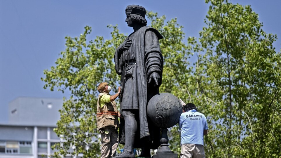 Μεξικό: Το διάσημο άγαλμα του Κολόμβου στο κέντρο της πρωτεύουσας θα αντικατασταθεί με προτομή αυτόχθονης