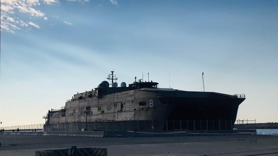 Αμερικανική «απόβαση» στην Αλεξανδρούπολη: Κατέπλευσε το θηριώδες μεταγωγικό «USNS Yuma»