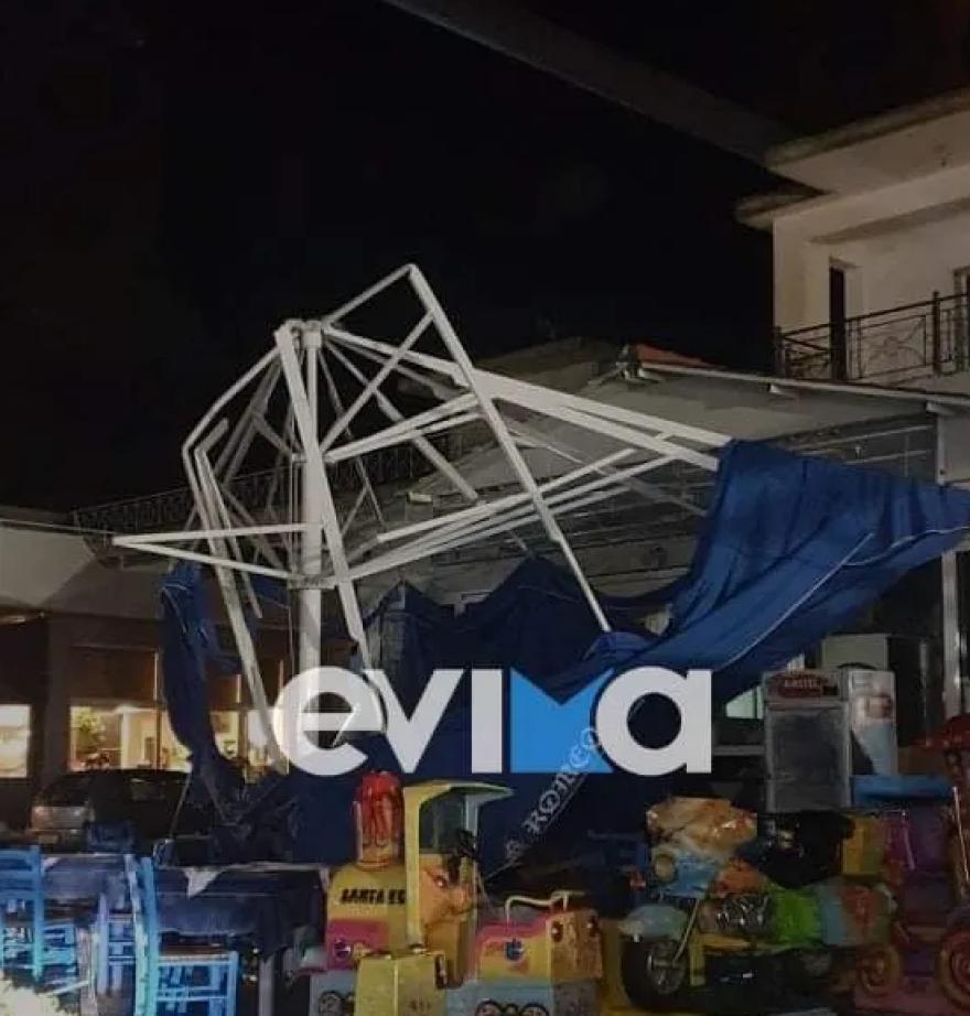 """Ερέτρια: Μεγάλες ζημιές από την κακοκαιρία """"Αθηνά"""" – Δείτε εικόνες"""