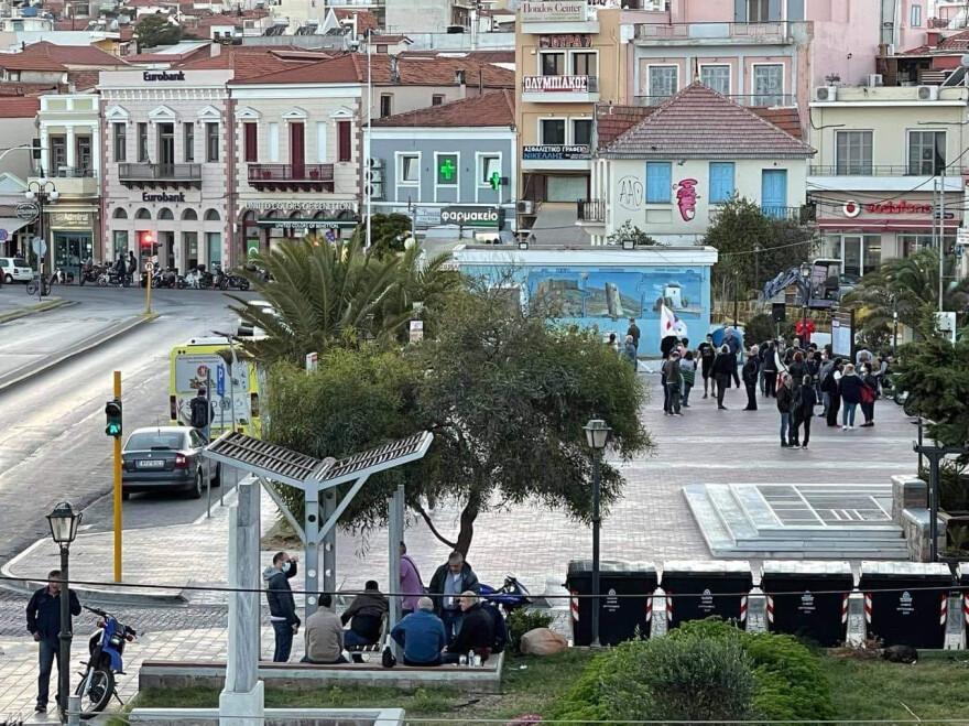 Μυτιλήνη: Συγκέντρωση ενάντια στη νέα κλειστή δομή μεταναστών – Μερικές δεκάδες άτομα έδωσαν το «παρών»