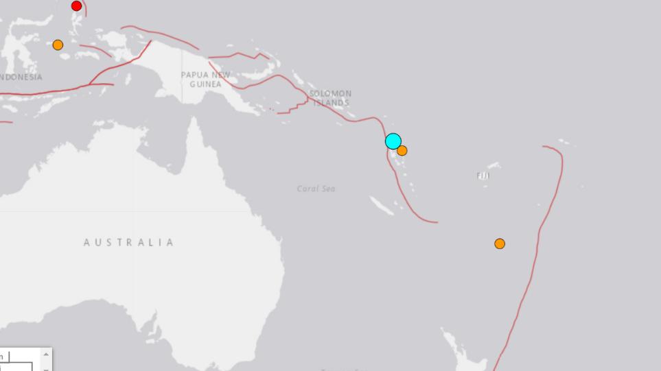 Ισχυρός σεισμός 6,1 Ρίχτερ στα νησιά Βανουάτου στον Ειρηνικό