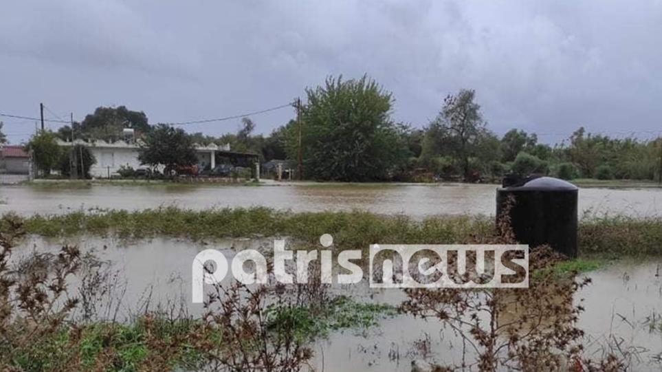 """Κακοκαιρία """"Μπάλλος"""": Πλημμύρισαν σπίτια και αποθήκες σε χωριά της Ηλείας – Πνίγηκαν ζώα"""